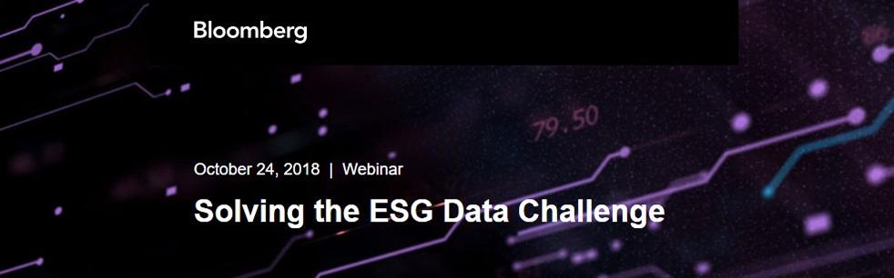 Bloomberg ESGHub webinar
