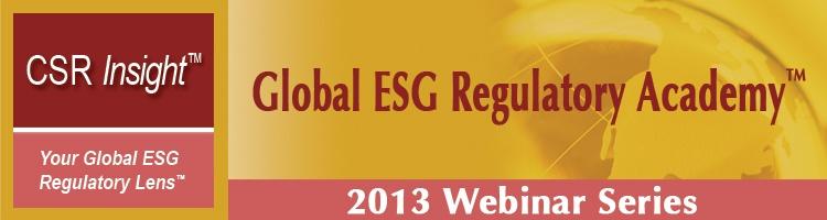 Global ESG Regulatory Academy™