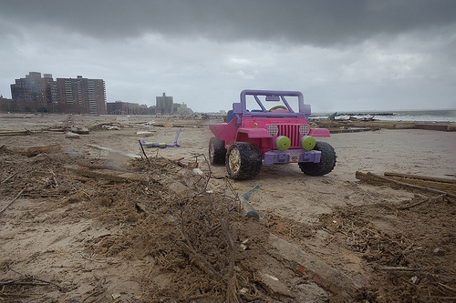 Hurricane Sandy caused by global warming?