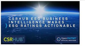 CSRHub ESG Business Intelligence